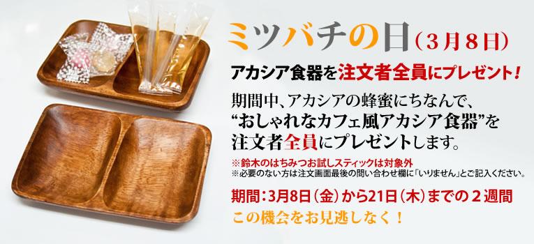 ミツバチの日アカシア食器プレゼント